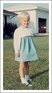Cathy as a young girl