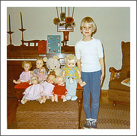 Cathy and her dolls